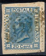 ITALY - Regno 1867 - Vittorio Eman II - 20 Cent  Fancy Cancel Numeral Used Lot#154 - 1861-78 Vittorio Emanuele II