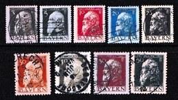 GERMANY, BAYERN, 1911,  Used Stamp(s) , Luitpold, Type II,  MI 76=87,  #16 139 9values Only - Bavaria