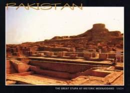 Pakistan Postcard Remains Buddhist Stupa Moenjodaro Unesco World Heritage - Pakistan