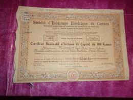 ECLAIRAGE ELECTRIQUE DE CANNES (1942) - Shareholdings