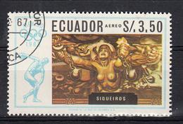 Ecuador 1967 Mi Nr  1318, Olympische  Spelen Mexico , David Alfaro Siqueiros: - Ecuador