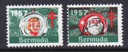 Bermuda Christmas Charity Labels From 1957 In Mounted Mint Condition. - Cinderellas