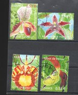 FRANCE  OB CACHET ROND YT N° 3763/66 - Orchideen