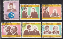 Ecuador 1967 Mi Nr  1374 - 1379 President John F. Kennedy - Ecuador