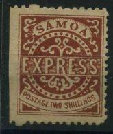 SAMOA ( POSTE ) Y&T N°  6  TIMBRE  NEUF  AVEC  TRACE  DE  CHARNIERE . - Samoa