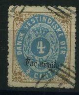 ANTILLES/DANOISES ( POSTE ) Y&T N°  7  TIMBRE  BIEN  OBLITERE . - Antilles