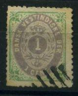 ANTILLES/DANOISES ( POSTE ) Y&T N°  5   TIMBRE  BIEN  OBLITERE . - Antilles