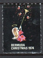 Bermuda Single Christmas Charity Label From 1974 In Mounted Mint Condition. - Cinderellas