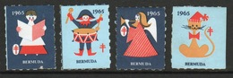 Bermuda  Christmas Charity Labels From 1965 In Mounted Mint Condition. - Cinderellas