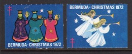 Bermuda  Christmas Charity Labels From 1972 In Mounted Mint Condition. - Cinderellas