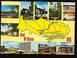Cpm 9515817 Val D'oise  Multivues Situées Sur Carte Département - Unclassified