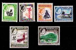 RHODESIA-NYASSALAND, 1959, Mint  Hinged Stamp(s), Definitives, Mich 19=33 , #nr. 462 (6  Values Only) - Rhodesia & Nyasaland (1954-1963)