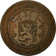Monnaie, Luxembourg, William III, 10 Centimes, 1870, Utrecht, TB, Bronze - Luxembourg