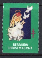 Bermuda  Christmas Charity Label From 1973 In Mounted Mint Condition. - Cinderellas