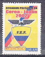 Ecuador 2002 Mi Nr 2648, Korea - Japan, Voetbal, Football - Ecuador