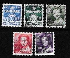 DENMARK, 1983, Used Stamp(s), Definitives, MI 774=780, #10162, 5 Values - Denmark