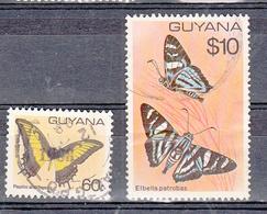 Guyana 1980 Mi Nr 574 + 575 Vlinders, Butterfly - Guyana (1966-...)