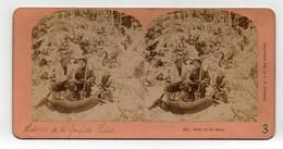 Ancienne CARTE Vue Stéréoscopique Kilburn Story Of The Hunt Histoire Des Hunt - Stereoscopic
