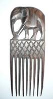 ART AFRICAIN / Peigne éléphant En Bois / 17,5 X 6,8 Cm / Artisanat Décoration - Art Africain