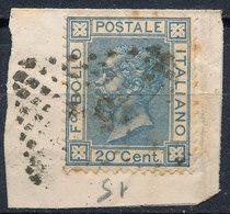 ITALY - Regno 1867 - Vittorio Eman II - 20 Cent  Fancy Cancel Numeral Used Lot#182 - 1861-78 Vittorio Emanuele II
