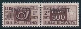 1949 Italia Italy Trieste A PACCHI POSTALI 500L Bruno (25) MNH** PARCEL POST - Paquetes Postales/consigna