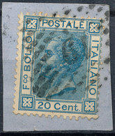 ITALY - Regno 1867 - Vittorio Eman II - 20 Cent  Fancy Cancel Numeral Used Lot#187 - 1861-78 Vittorio Emanuele II