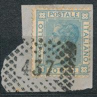 ITALY - Regno 1867 - Vittorio Eman II - 20 Cent  Fancy Cancel Numeral Used Lot#192 - 1861-78 Vittorio Emanuele II