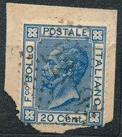 ITALY - Regno 1867 - Vittorio Eman II - 20 Cent  Fancy Cancel Numeral Used Lot#237 - 1861-78 Vittorio Emanuele II