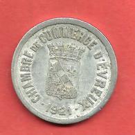 CHAMBRE De COMMERCE D' EVREUX 1921 , 25 Cent - Monétaires / De Nécessité