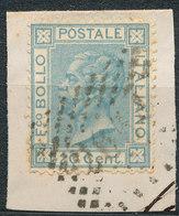 ITALY - Regno 1867 - Vittorio Eman II - 20 Cent  Fancy Cancel Numeral Used Lot#247 - 1861-78 Vittorio Emanuele II