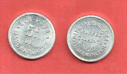 * EPICERIE BAGOUET * LAINAGES MERCERIE , RUFFEC CHARENTE 1922 , BON Pour 5c De MARCHANDISES - Monétaires / De Nécessité