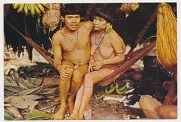 VENEZUEL Naked Couple Waika Indians Samatari Tribe Old Postcard - Venezuela