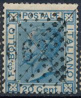 ITALY - Regno 1867 - Vittorio Eman II - 20 Cent  Fancy Cancel Numeral Used Lot#a39 - 1861-78 Vittorio Emanuele II