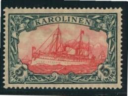 1919, 5 Mark Kaiseryacht Kriegdruck Mit 25:17 Zähnungslöchern Postfrisch. - Colonie: Carolines