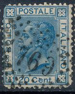 ITALY - Regno 1867 - Vittorio Eman II - 20 Cent  Fancy Cancel Numeral Used Lot#a46 - 1861-78 Vittorio Emanuele II