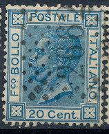 ITALY - Regno 1867 - Vittorio Eman II - 20 Cent  Fancy Cancel Numeral Used Lot#a63 - 1861-78 Vittorio Emanuele II