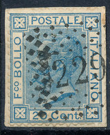 ITALY - Regno 1867 - Vittorio Eman II - 20 Cent  Fancy Cancel Numeral Used Lot#a66 - 1861-78 Vittorio Emanuele II