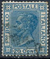 ITALY - Regno 1867 - Vittorio Eman II - 20 Cent  Fancy Cancel Numeral Used Lot#a67 - 1861-78 Vittorio Emanuele II