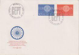 "Europa Cept 1960 Switzerland 2v  FDC (39877) Ca ""Jour D'emission"" - 1960"