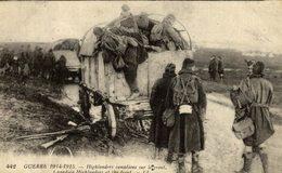 La Guerre 1914-1915  GUERRE 14-18. CPA. HIGHLANDERS CANADIENS SUR LE FRONT - Canadá