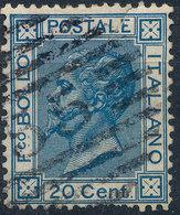 ITALY - Regno 1867 - Vittorio Eman II - 20 Cent  Fancy Cancel Numeral Used Lot#a108 - 1861-78 Vittorio Emanuele II