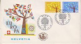 Europa Cept 1962 Switzerland 2v FDC  (39881) - Europa-CEPT