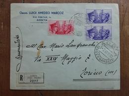 REGNO - Raccomandata Da Aosta A Torino - Con Annullo Arrivo + Spese Postali - 1900-44 Vittorio Emanuele III