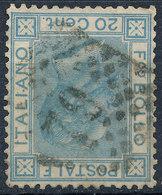 ITALY - Regno 1867 - Vittorio Eman II - 20 Cent  Fancy Cancel Numeral Used Lot#a149 - 1861-78 Vittorio Emanuele II