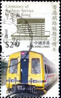 Electric Train, Railways In Hong Kong, Centenary, Hong Kong Stamp SC#1409 Used - Oblitérés
