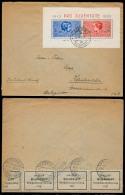 Switzerland - XX. 1938 (26 April). Gossat - Gemany. Env Fkd 30 + 10 + 20 + 5  1937 Pro Juventude Miniature Sheet. Financ - Switzerland