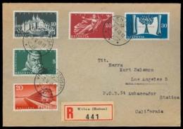 Switzerland - XX. 1948 (7 May). Wilen - USA. Reg Multifkd Env. Set Of 15. - Suiza
