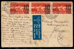 Switzerland - XX. 1937 (18 Aug). Zurich - Tcheck Rep. Air Multifkd PPC 10c / 20c X3. - Switzerland