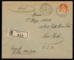 Switzerland - XX. 1937 (12 April). Olten - 1 - USA. Reg Fkd Env. XF. - Switzerland