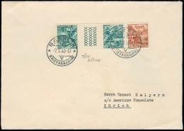 Switzerland - XX. 1946 (7 Oct). Basel - Zurich. Fkd Tetebeche Interp. XF. - Switzerland